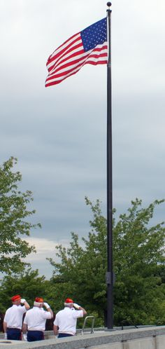 usa national day half mast flag