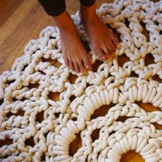 Awesome crocheted rug!