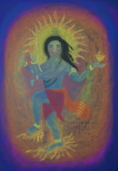 Waldorf ~ 5th grade ~ Ancient India ~ Shiva's Dance ~ chalkboard drawing