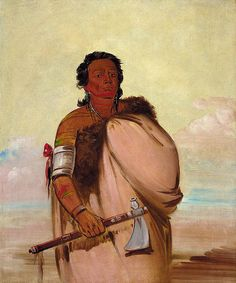 Native American George Catlin Ah'-sho-cole, Rotten Foot, a Noted Warrior, via Flickr.