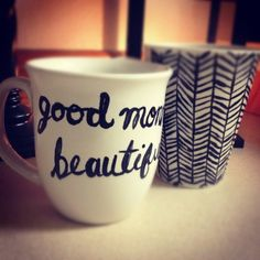 DIY Art Mugs with good instructions