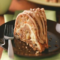 Contest-winning William Tell's Never-Miss Apple Cake with Praline Icing. Mmm. Mmm.
