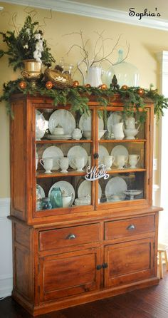 Hutch china cabinets and hutch christmas decor christmas cabinets