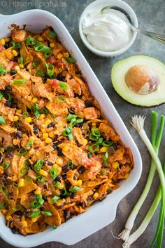 Perfect for a busy weeknight! Tex-Mex Chicken Casserole