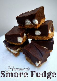 Homemade Smore Fudge