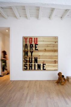 'You Are My Sunshine' Distressed Wood Wall Art.