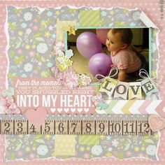 NEW Simple Stories Hello Baby - Scrapbook.com - Made with Simple Stories products.