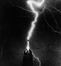Lightning Strikes Empire State Building 1957