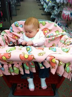 How to make a no sew baby shopping cover @Amara Snider I bet we can find some dino fleece.