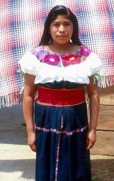 A woman from the Tzotzil community of Huixtan Chiapias Mexico