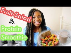 Fruit Salad & Protein Smoothie | Lunch Vlog - YouTube