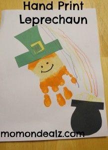 Easy St. Patrick's Day Craft-Hand Print Leprechaun