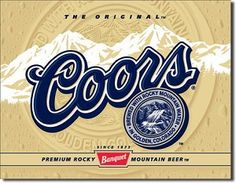 Coors Label Tin Sign, $8.95