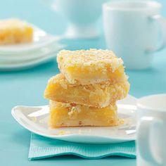 Coconut Citrus Bars Recipe from tasteofhome.com #desserts #recipe