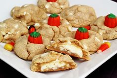 Double White Chocolate Chip Cookies- Halloween Style!