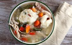 Chicken Soup with Bacon-Thyme Dumplings