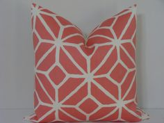 "Trina Turk 20"" x 20"" Trellis Print-Watermelon Designer Pillow Cover. $56.00, via Etsy."