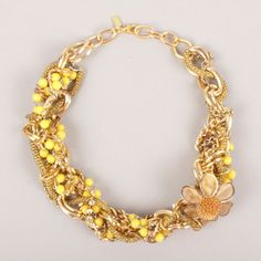 Braid Necklace Yellow now featured on Fab.