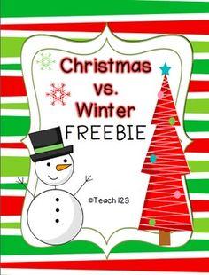 FREE Winter vs. Christmas freebie $0