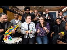 """▶ Jimmy Fallon, Idina Menzel & The Roots Sing """"Let It Go"""" from """"Frozen"""" (w/ Classroom Instruments) - YouTube"""