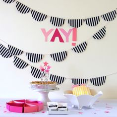 simple, fabulous black and white party (with pops of color!)