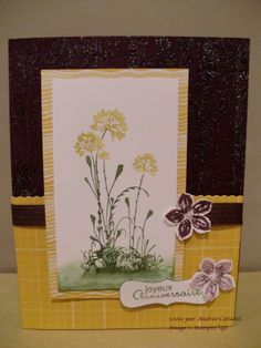 Carte Serene Silhouette Stampin'Up! 2014