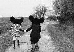 mickey and minnie.