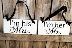 mr and mrs chair signs, barn weddings, wedding chairs