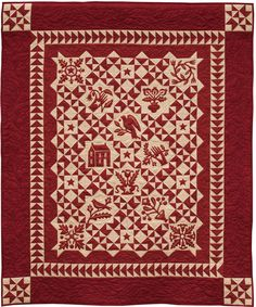 """From the book """"Simply Red"""" - 4 projects / 16 full color pages and quilty quotes."""