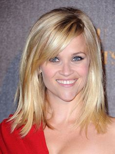 reese witherspoon, shoulder length hairstyles, medium length hairstyles, new hair, fine hair, mid length hair, side bangs, medium length haircuts, bang bang