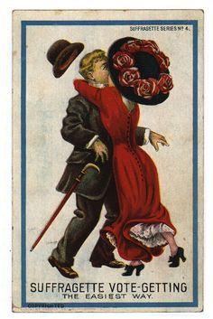 Vintage Anti-Suffrage Postcards (click thru for analysis)