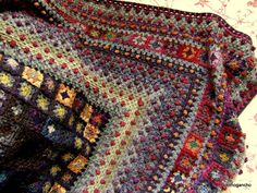 This really is made mainly from granny squares and granny stitch - incredible
