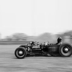 Hot rod on a dirt track.