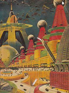 Retro futurismo vintag scienc, futurist citi, scifi, science fiction, scienc fiction, future city, sci fi, retrofutur, retro futur