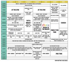 SAHM Daily Schedule for Summer