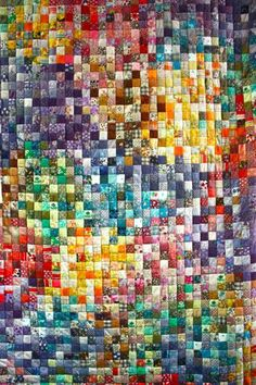 scrappy block quilt    wowsers