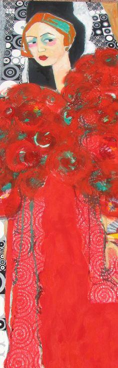 Peinture et collage de Suzannepeint.