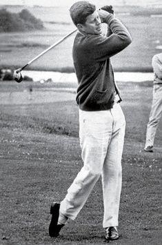 A photo of JFK golfing at the Palm Beach Golf Club.