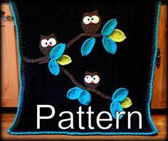 CROCHET BLANKET PATTERN  Owl Baby Blanket Pattern   by WillowsLoft, $5.99