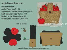 Basket of Apples Punch Art - bjl