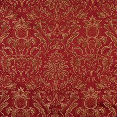 Upholstery Fabric K7661 Wine heirloom Damask/Jacquard red rust