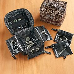 Travel Jewelry Case- oragami design gives you full visibility, holds tons of stuff and folds up into a small space.