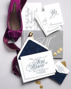 Velvet-inspired invites by 42 Pressed