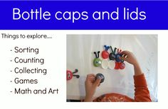 So many playful things to do with lids!