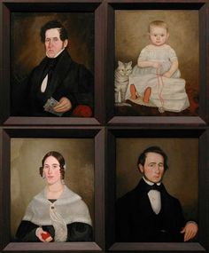 Chippenhook Family Group, ca. 1840.  Attributed to Aaron Dean Fletcher