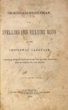 title page Chippeway language book by Missouri History Museum, via Flickr