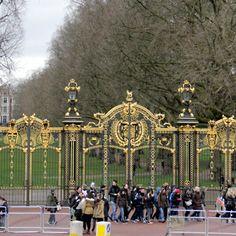Palatial gates of Buckingham Palace