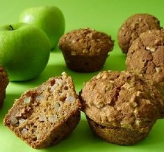 "Apple Oat-Bran Muffins: ""Healthy, delicious, no added sugar and lots of fiber and whole grains. -Chef #461400"