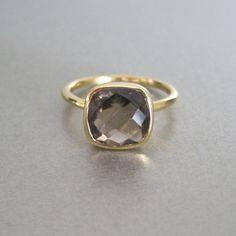 smokey quartz ring from tangerine jewelry shop