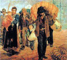 """A pintura """"Os Emigrantes"""", de Antonio Rocco."""
